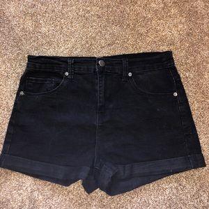 Forever 21 High-Waisted Black Shorts